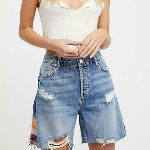 We The Free- Boho Style Distressed Shorts